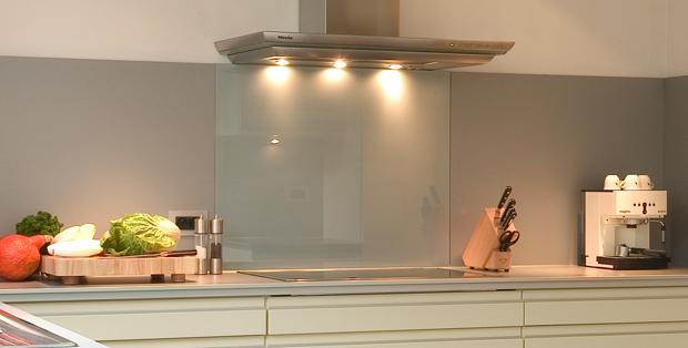Glazz wall 4mm glazz interiors gehard glas voor keuken en interieur - Credence keuken wit ...